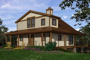 Cottage Exterior - Front Elevation Plan #118-172