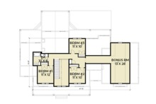 Farmhouse Floor Plan - Upper Floor Plan Plan #1070-19