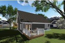 Dream House Plan - Craftsman Exterior - Rear Elevation Plan #70-1256