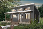 Cottage Style House Plan - 1 Beds 1 Baths 576 Sq/Ft Plan #23-2300 Exterior - Front Elevation