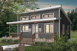 Cottage Exterior - Front Elevation Plan #23-2300