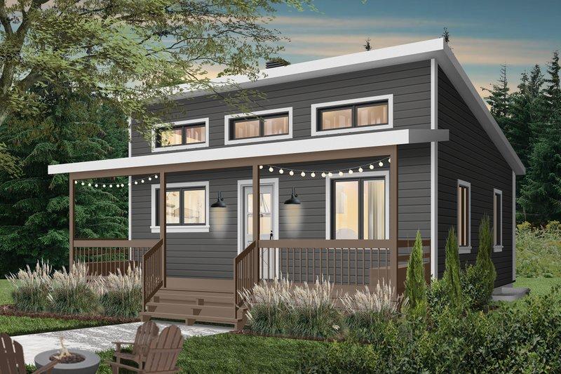 House Plan Design - Cottage Exterior - Front Elevation Plan #23-2300