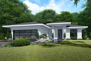 House Plan Design - Contemporary Exterior - Front Elevation Plan #923-140