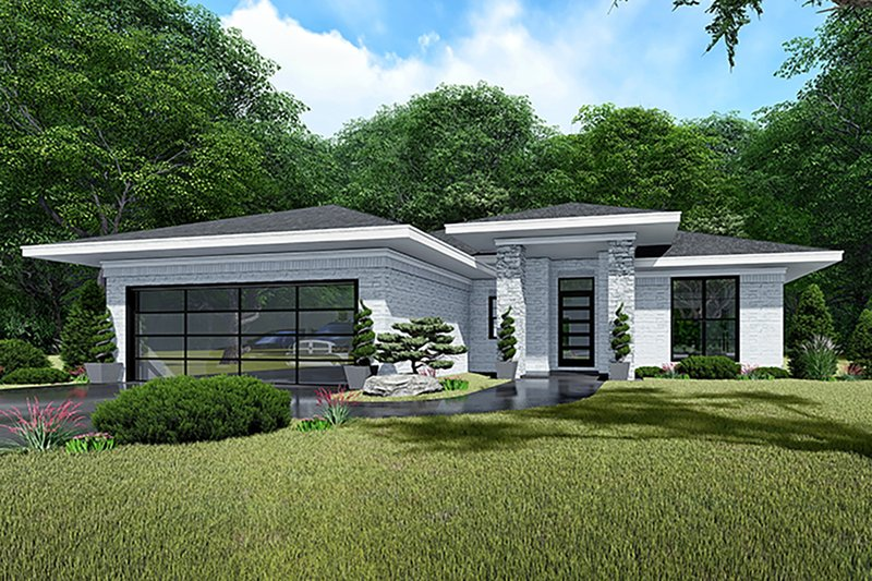Dream House Plan - Contemporary Exterior - Front Elevation Plan #923-140