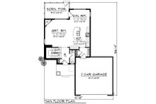 Craftsman Floor Plan - Main Floor Plan Plan #70-1415