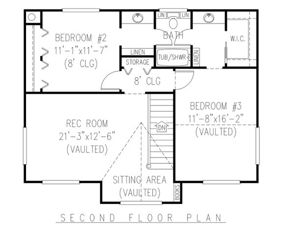 Country Floor Plan - Upper Floor Plan Plan #11-121