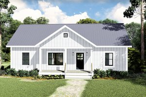 Architectural House Design - Farmhouse Exterior - Front Elevation Plan #44-227