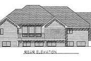Traditional Style House Plan - 2 Beds 2.5 Baths 1938 Sq/Ft Plan #70-499 Exterior - Rear Elevation