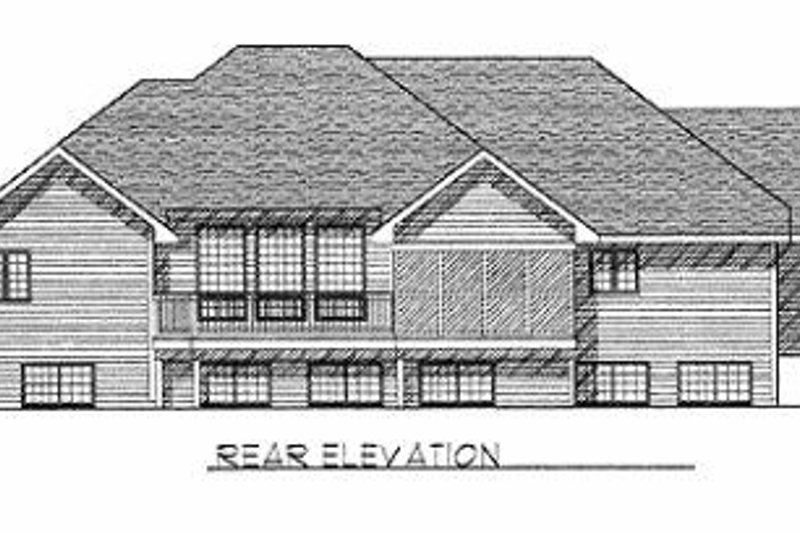 Traditional Exterior - Rear Elevation Plan #70-499 - Houseplans.com