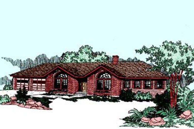 Traditional Exterior - Front Elevation Plan #60-256 - Houseplans.com