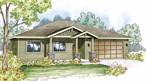 Traditional Exterior - Front Elevation Plan #124-822 - Houseplans.com