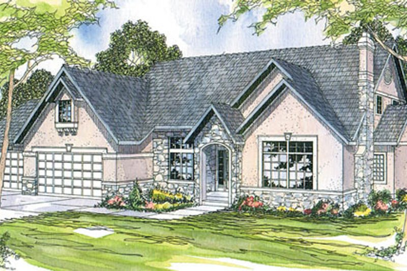 Ranch Exterior - Front Elevation Plan #124-170