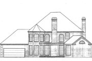 Colonial Style House Plan - 5 Beds 3.5 Baths 3381 Sq/Ft Plan #310-502 Exterior - Rear Elevation