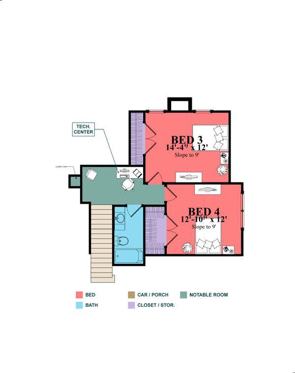 Country Floor Plan - Upper Floor Plan Plan #63-427