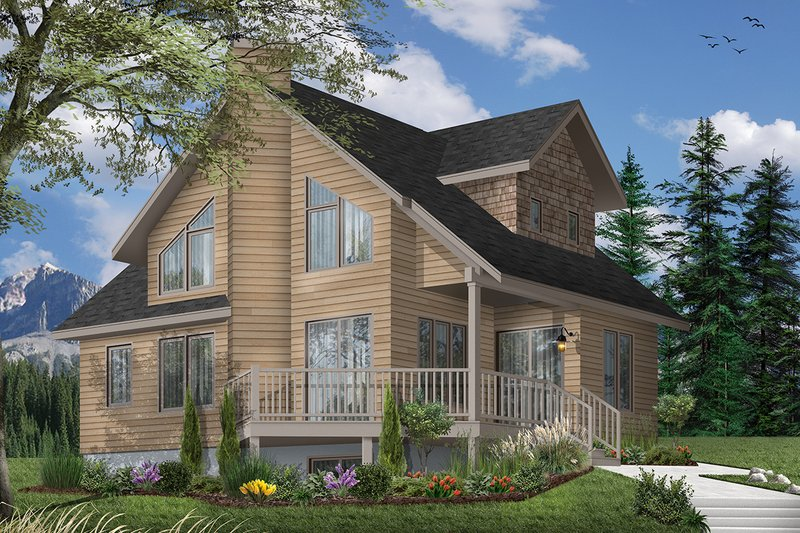 Architectural House Design - Country Exterior - Front Elevation Plan #23-2030