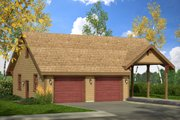 Traditional Style House Plan - 0 Beds 0 Baths 1472 Sq/Ft Plan #124-1054 Exterior - Front Elevation