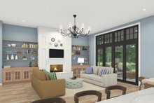 House Plan Design - Craftsman Interior - Family Room Plan #124-1240