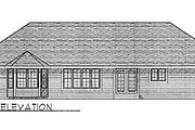 Traditional Style House Plan - 3 Beds 2.5 Baths 1859 Sq/Ft Plan #70-273 Exterior - Rear Elevation