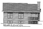 Traditional Style House Plan - 2 Beds 2 Baths 1281 Sq/Ft Plan #70-105 Exterior - Rear Elevation