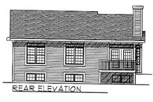 Architectural House Design - Traditional Exterior - Rear Elevation Plan #70-105