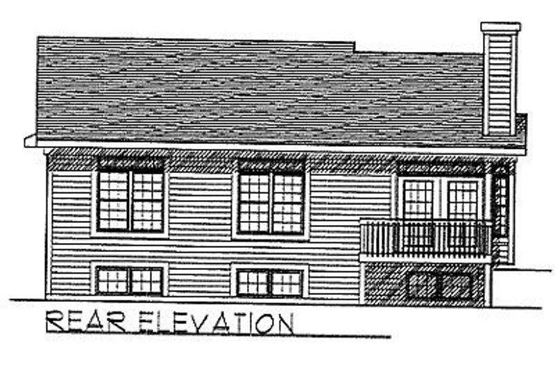 Traditional Exterior - Rear Elevation Plan #70-105 - Houseplans.com