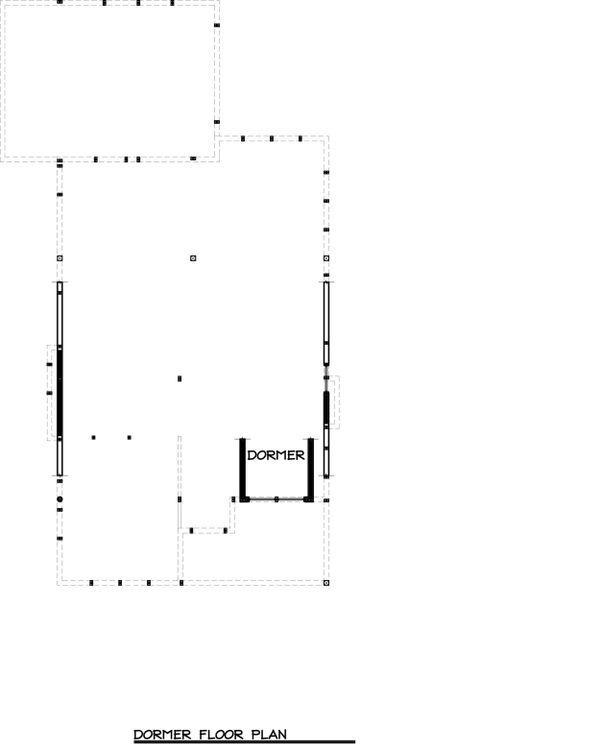Craftsman Floor Plan - Upper Floor Plan Plan #895-25