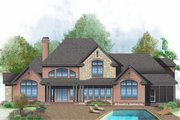 Farmhouse Style House Plan - 4 Beds 3.5 Baths 3626 Sq/Ft Plan #929-1000 Exterior - Rear Elevation