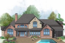 Dream House Plan - Farmhouse Exterior - Rear Elevation Plan #929-1000