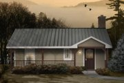 Ranch Style House Plan - 2 Beds 1 Baths 751 Sq/Ft Plan #22-510 Exterior - Front Elevation