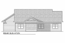 Craftsman Exterior - Rear Elevation Plan #70-927