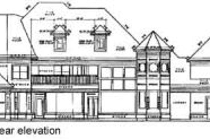 European Exterior - Rear Elevation Plan #61-159 - Houseplans.com