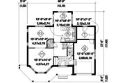Victorian Style House Plan - 3 Beds 1 Baths 1787 Sq/Ft Plan #25-4762 Floor Plan - Main Floor Plan
