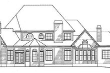 Dream House Plan - Traditional Exterior - Rear Elevation Plan #54-146