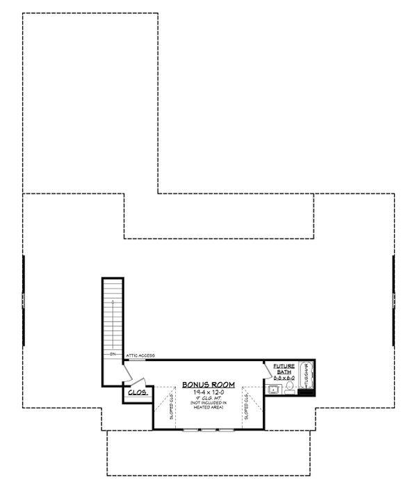 House Plan Design - Farmhouse Floor Plan - Upper Floor Plan #430-215