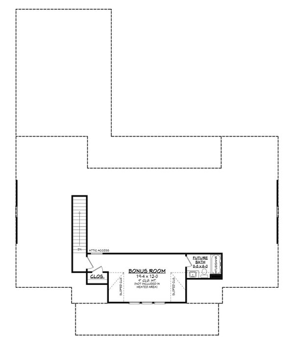 Farmhouse Floor Plan - Upper Floor Plan Plan #430-215