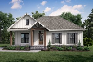Country Exterior - Front Elevation Plan #430-239