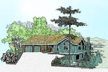 Dream House Plan - Ranch Exterior - Front Elevation Plan #60-230