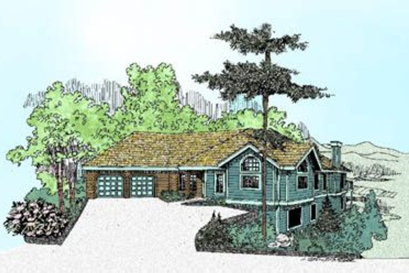 Ranch Exterior - Front Elevation Plan #60-230