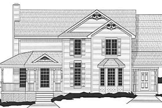 Country Exterior - Front Elevation Plan #67-391