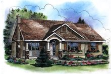 Home Plan - Traditional Exterior - Front Elevation Plan #18-1037