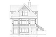 Home Plan - Traditional Exterior - Rear Elevation Plan #928-11