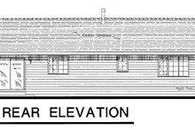 House Blueprint - Ranch Exterior - Rear Elevation Plan #18-177