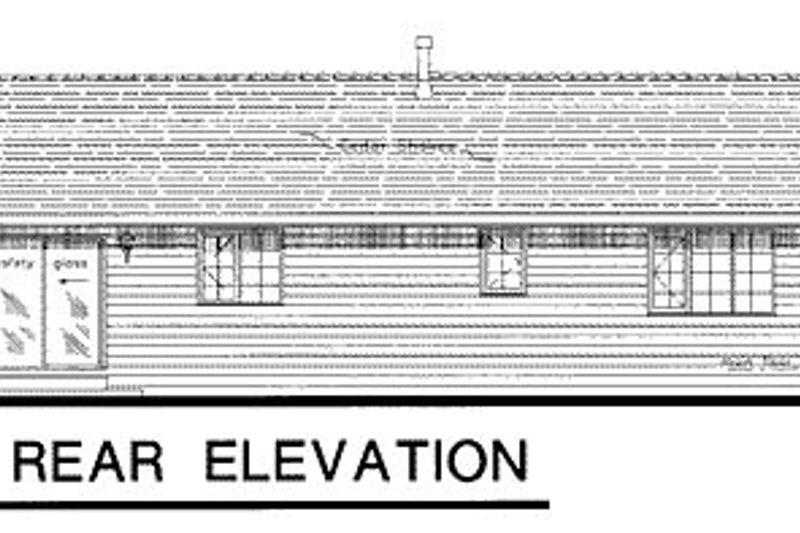 Ranch Exterior - Rear Elevation Plan #18-177 - Houseplans.com
