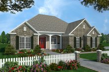 Dream House Plan - European Exterior - Front Elevation Plan #21-185