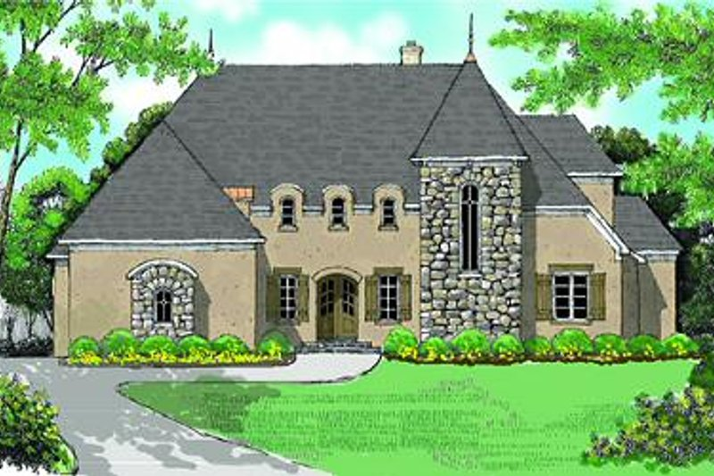 European Exterior - Front Elevation Plan #413-149