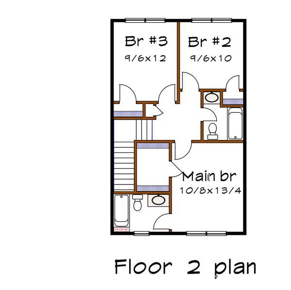 Dream House Plan - Farmhouse Floor Plan - Upper Floor Plan #79-257