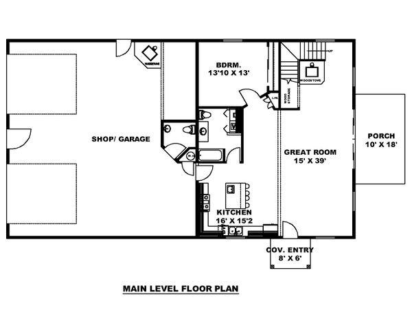House Plan Design - Modern Floor Plan - Main Floor Plan #117-903