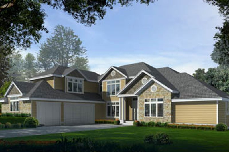 Traditional Exterior - Front Elevation Plan #97-211 - Houseplans.com