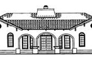 Mediterranean Style House Plan - 4 Beds 2.5 Baths 2539 Sq/Ft Plan #72-485 Exterior - Rear Elevation