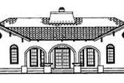 Mediterranean Style House Plan - 4 Beds 2.5 Baths 2539 Sq/Ft Plan #72-485 Exterior - Rear Elevation